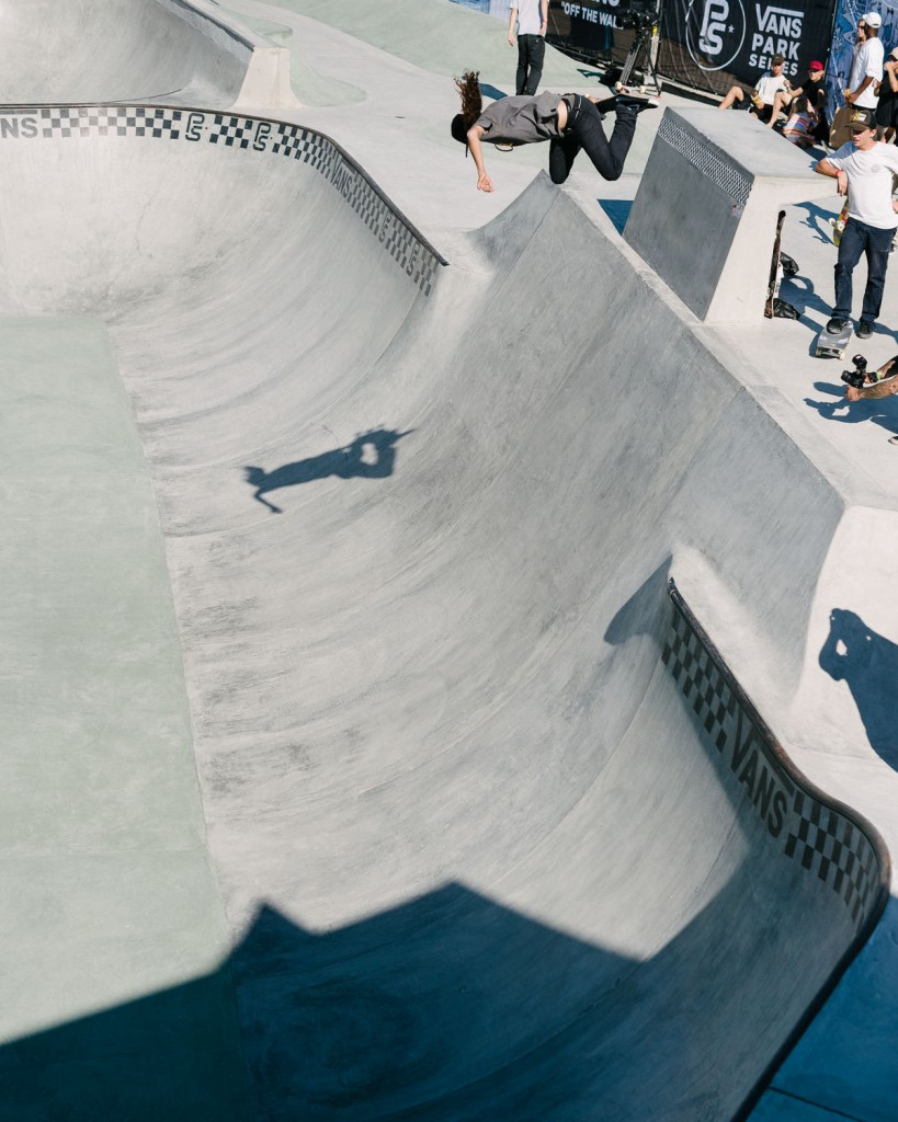 Cody Lockwood, backside air from quarter to bank.