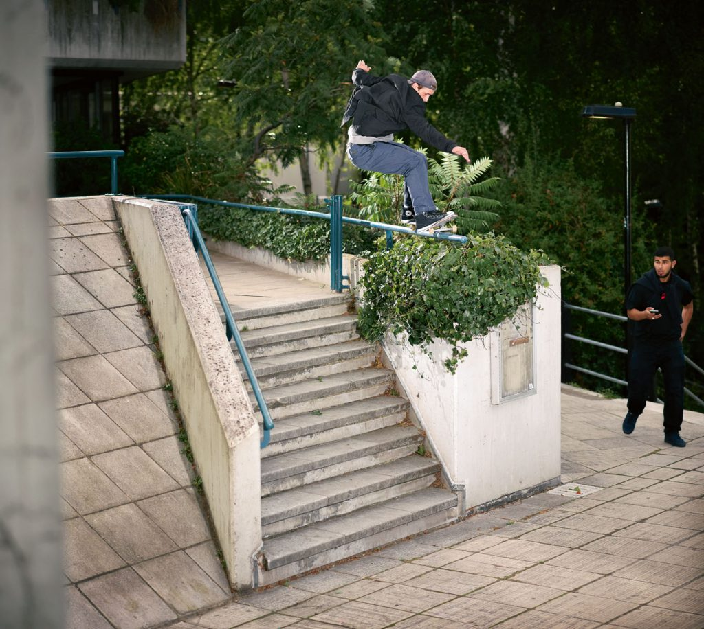 Frontside 50-50 grind London Ph. Alex Irvine