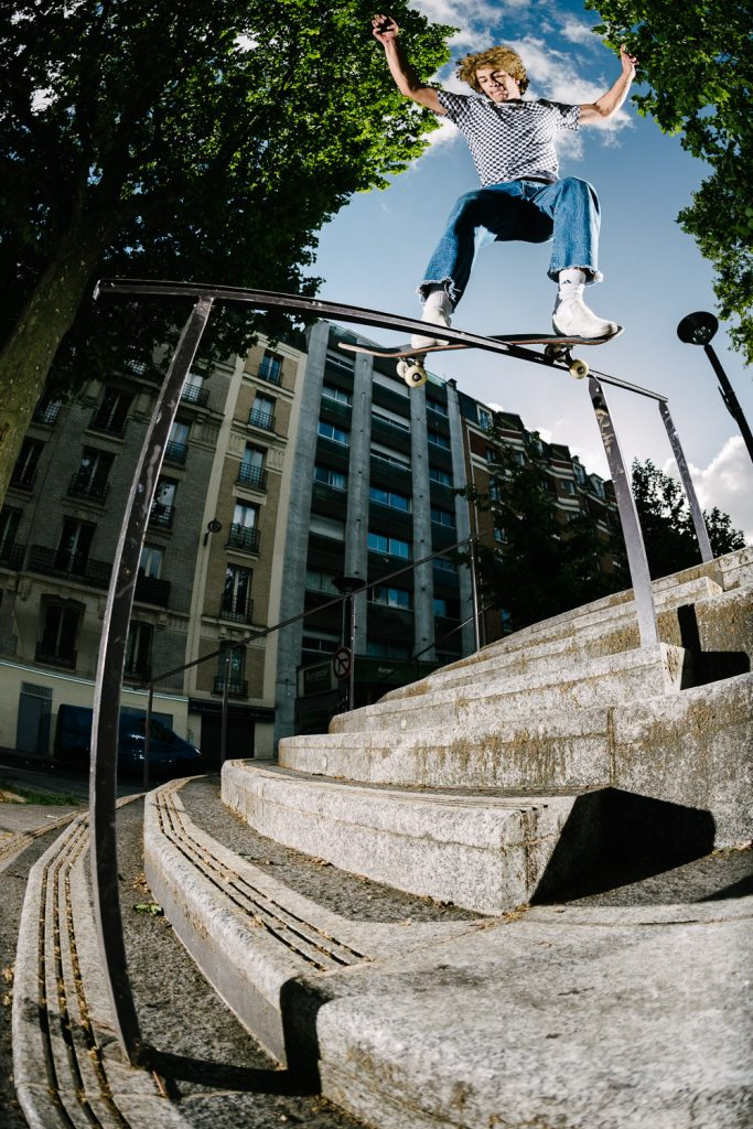 Sam Sitayeb, feeble grind, Paris. Ph: Sam Ashley.