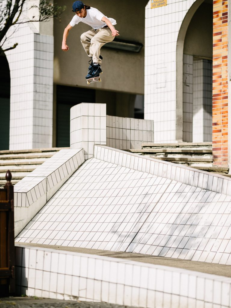 Julian Kimura, ollie up, ollie in, Paris. Ph. Sam Ashley