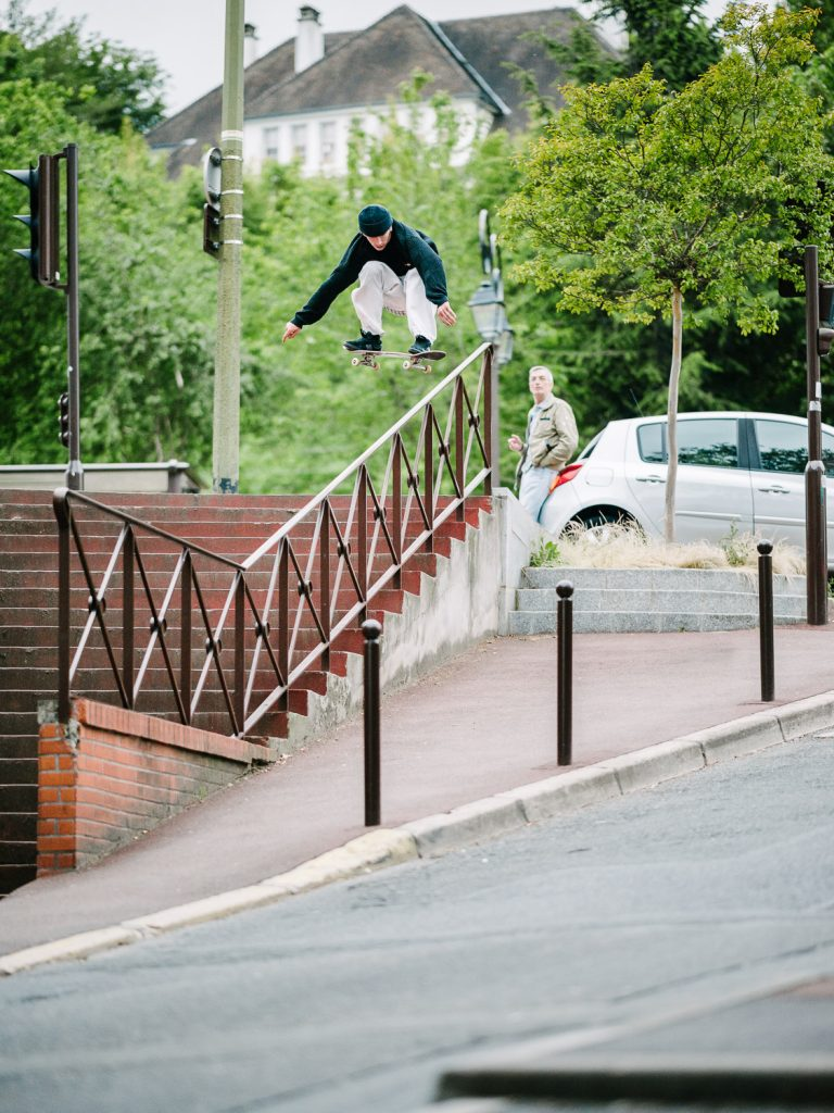 Charlie Birch, ollie, Paris. Ph: Sam Ashley.