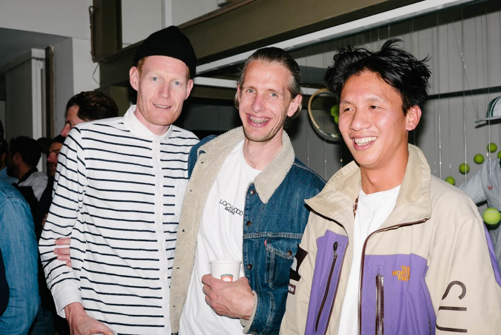 Neil Chester (adidas), Sven Aerts (Lockwood) and Benny Komala  (Ben G)