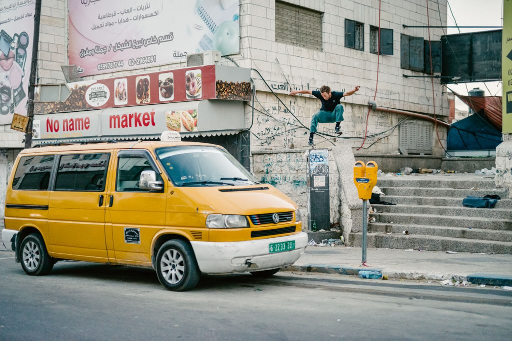 Chris Jones, nosegrind, Ramallah.