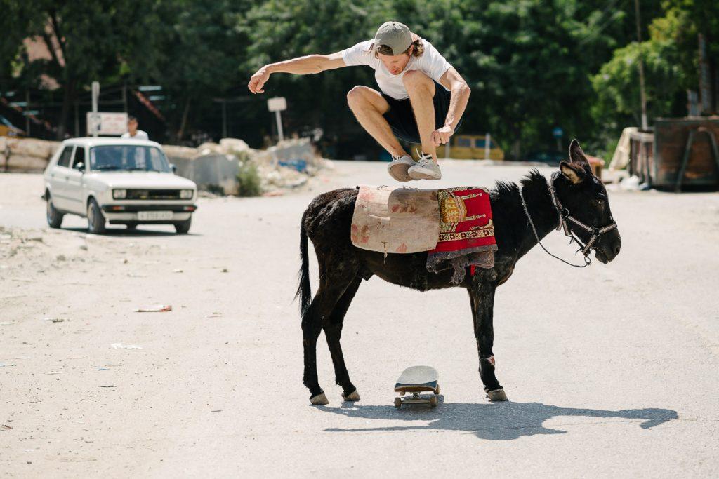 Sylvain Tognelli, donkey hippy jump, Nablus.