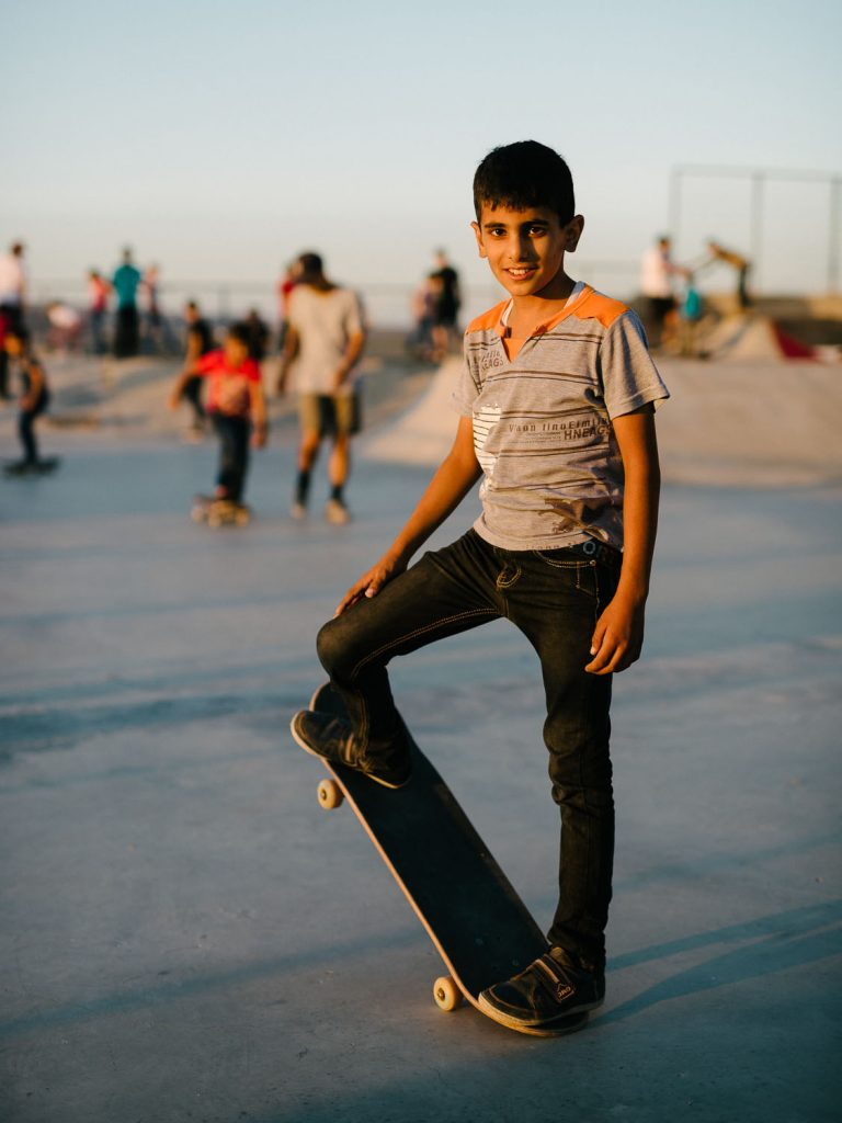 Skatepal park at Asira Al-Shamaliya.