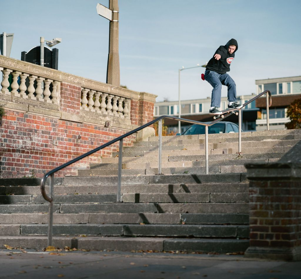 Frontside 50-50 Hitchin, England Ph. Alex Irvine