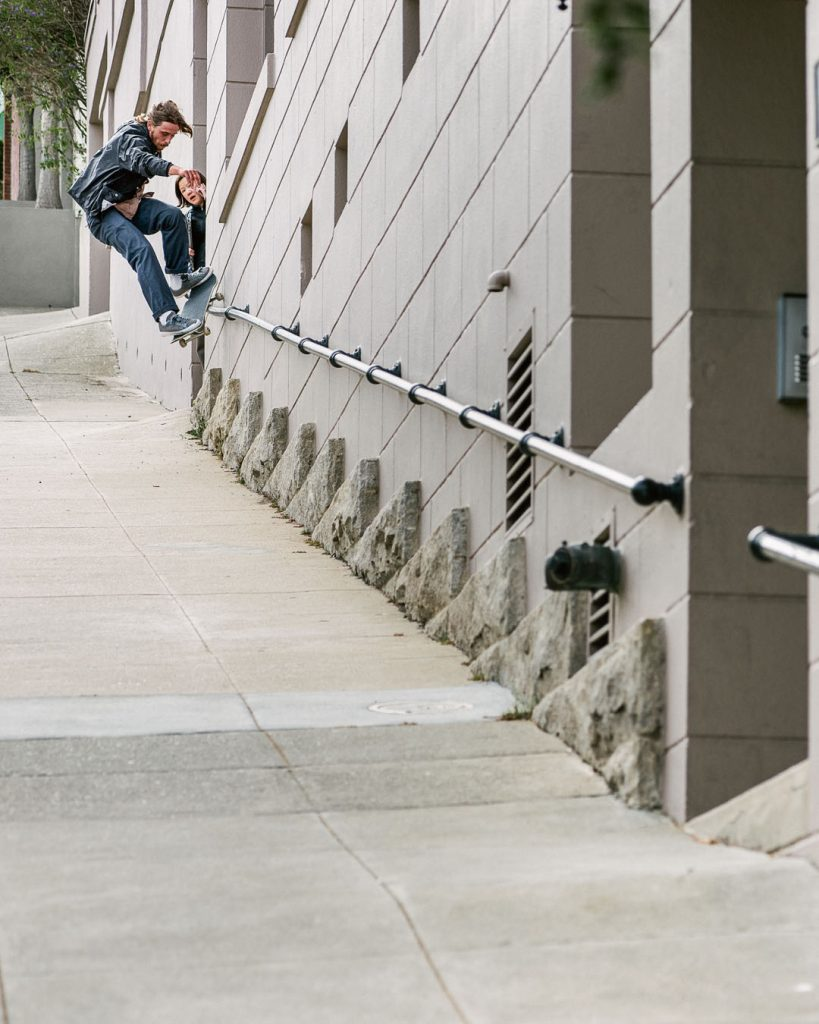 Frontside smith grind San Francisco Ph. Chris Robles