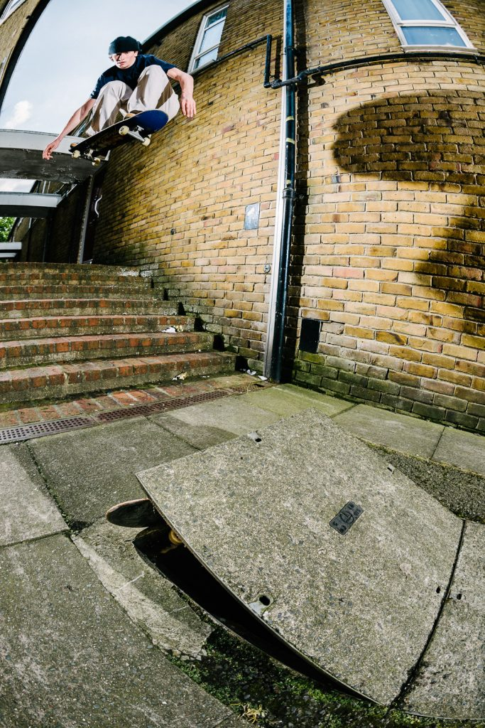 Charlie Birch, ollie in, London. Ph. Sam Ashley