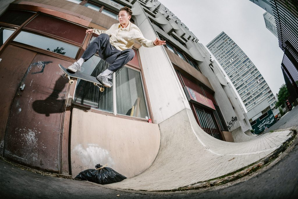 Curtis Pearl, gap to wallride, Paris. Ph. Alex Pires