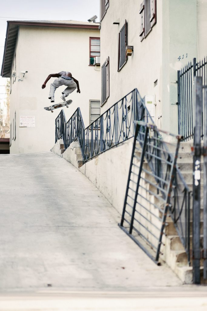 Kyle Wilson, backside 180 kickflip, Los Angeles. Ph. Alex Pires