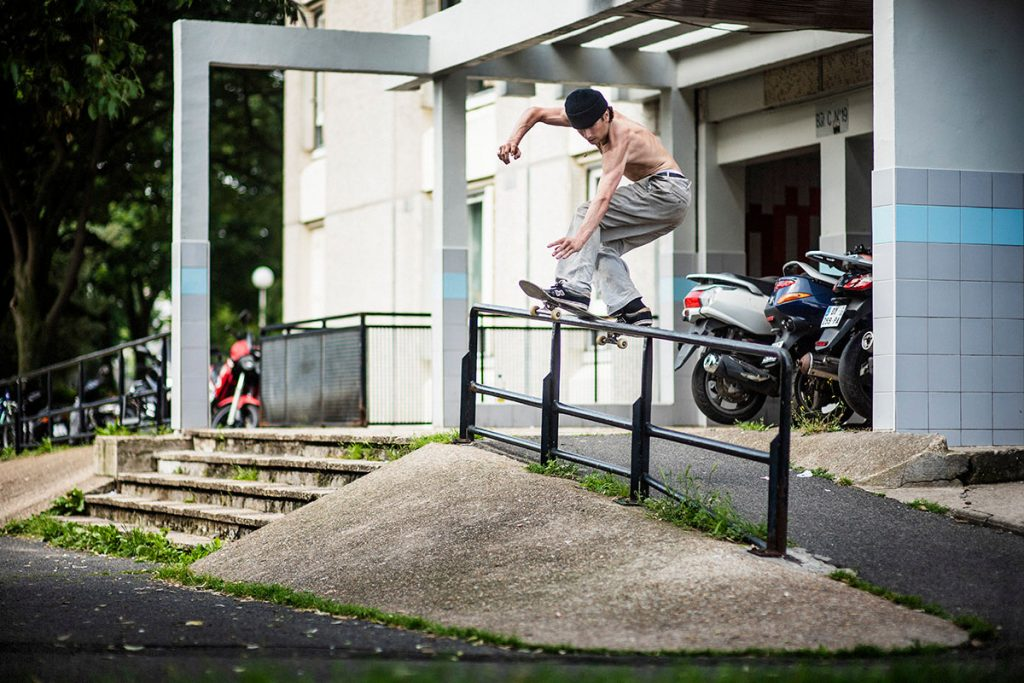 Charlie Birch, frontside boardslide, Paris. Ph: Alex Pires.