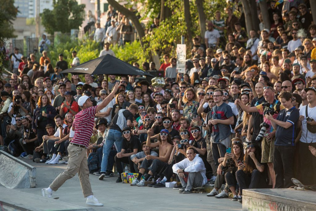 Eric Koston getting the crowd hyped