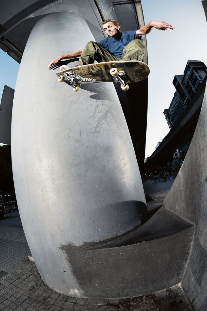 Max Palmer, gap to wallride nollie out. Photo: Alex Pires.