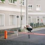 Val Bauer, flip hippy jump.