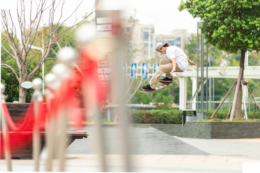 Chris Joslin frontside 360 in Nanjing