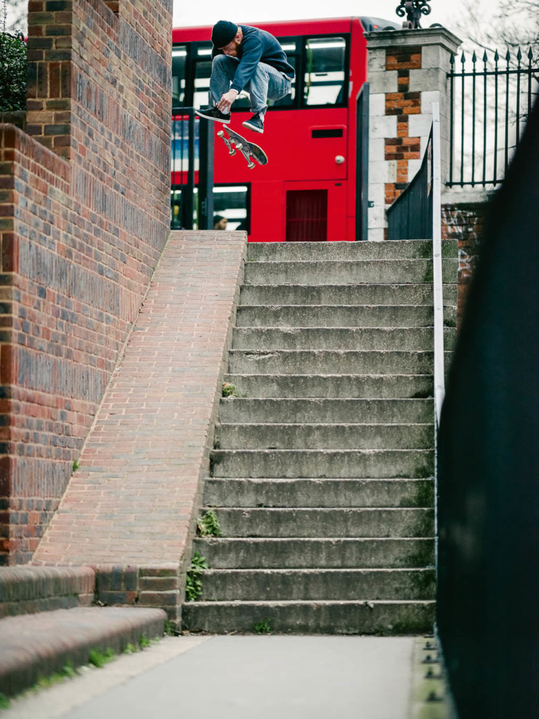 Charlie Munro, nollie heelflip. Photo: Sam Ashley.