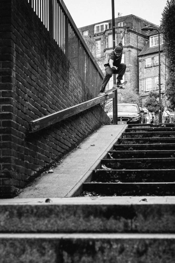 Harry Lintell, crooked grind. Photo: Joe Buddle.